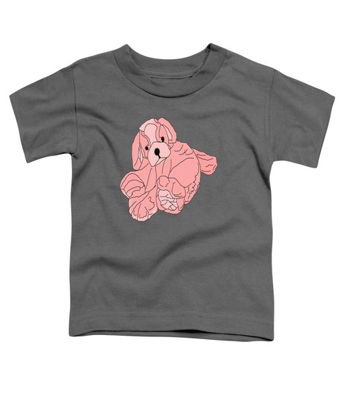 Toddler T-Shirt featuring the digital art Soft Puppy Pink by Jayvon Thomas