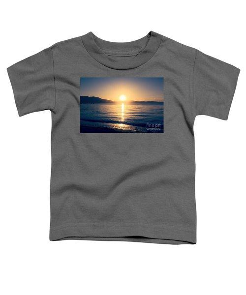 Soft Sunset Lake Toddler T-Shirt