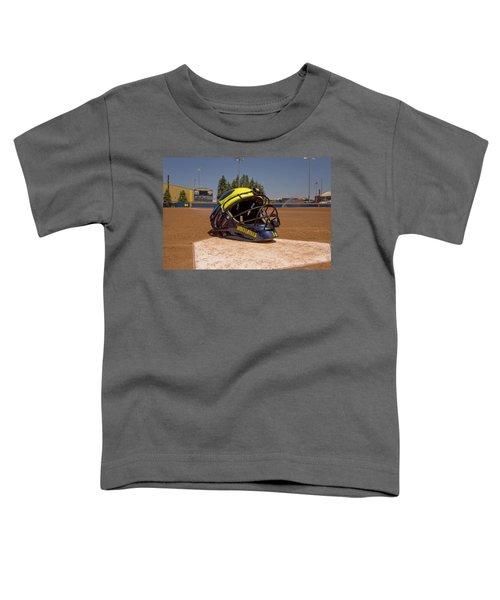 Softball Catcher Helmet Toddler T-Shirt