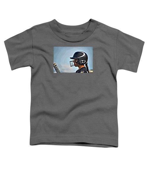 Softball Beauty Girl Toddler T-Shirt