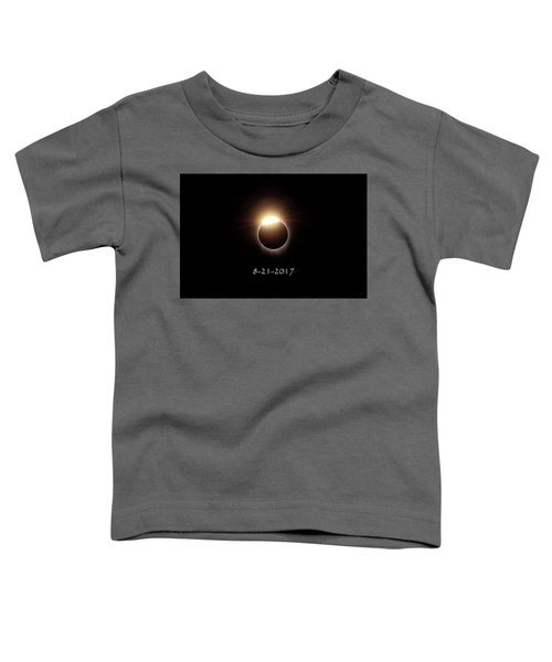 Toddler T-Shirt featuring the photograph Solar Eclipse Diamond Phase by Greg Norrell
