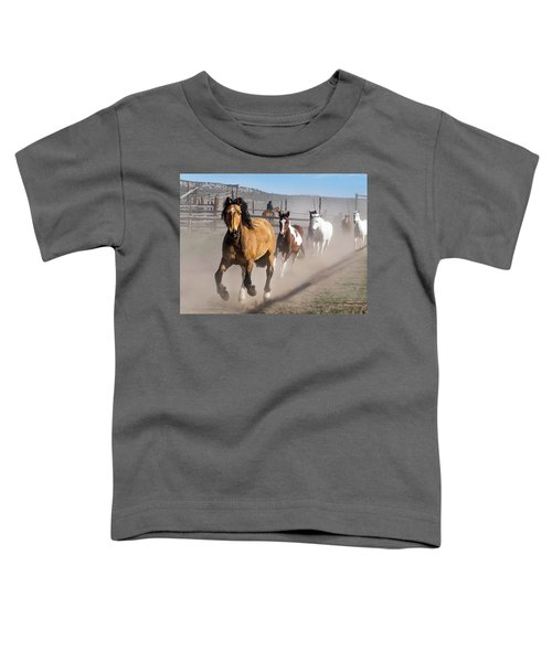 Sombrero Ranch Horse Drive At The Corrals Toddler T-Shirt