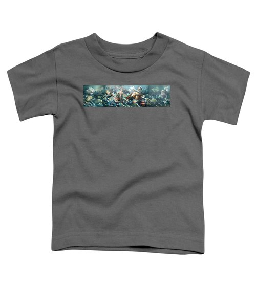 Something Fowl Afloat 2b Toddler T-Shirt by Patrick Anthony Pierson