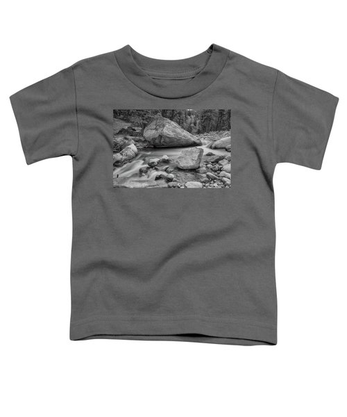Toddler T-Shirt featuring the photograph Soothing Colorado Monochrome Wilderness by James BO Insogna