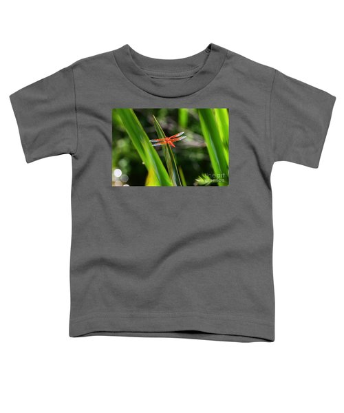 Sparkling Red Dragonfly Toddler T-Shirt