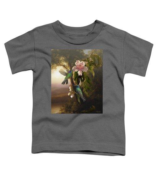 Sparkling Violetear Hummingbirds And Trumpet Flower Toddler T-Shirt