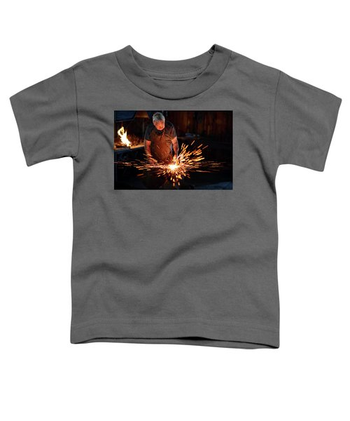 Sparks When Blacksmith Hit Hot Iron Toddler T-Shirt