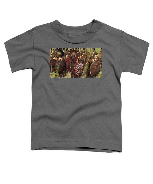 Spartan Warriors Before The Battle Toddler T-Shirt