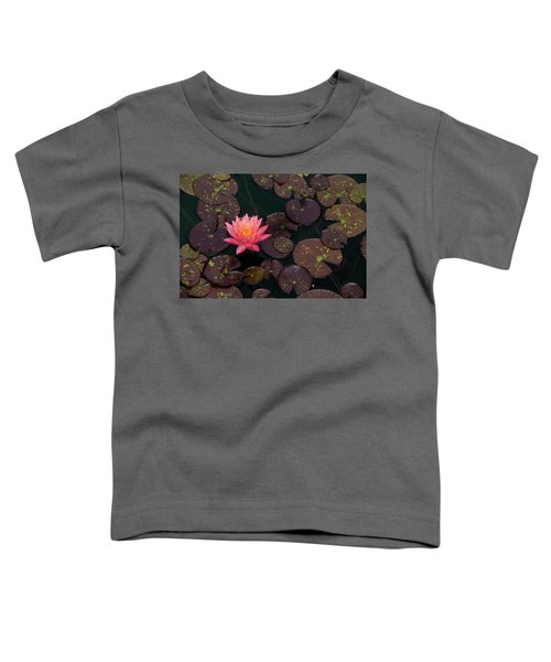 Speckled Red Lily And Pads Toddler T-Shirt