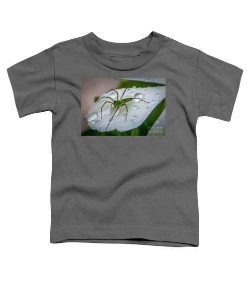 Spider And Flower Petal Toddler T-Shirt