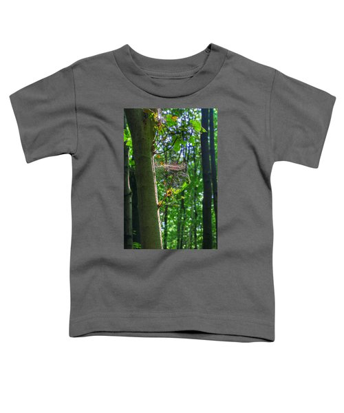 Spider Web In A Forest Toddler T-Shirt