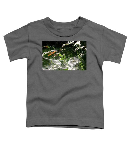 Spiderweb Over Rose Plants Toddler T-Shirt