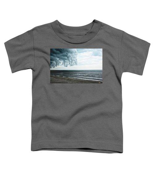 Spiraling Storm Clouds Over Daytona Beach, Florida Toddler T-Shirt