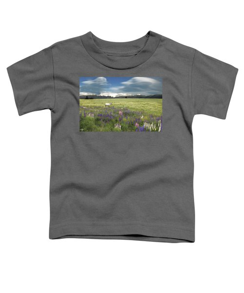 Spirit Pony In High Country Lupine Field Toddler T-Shirt