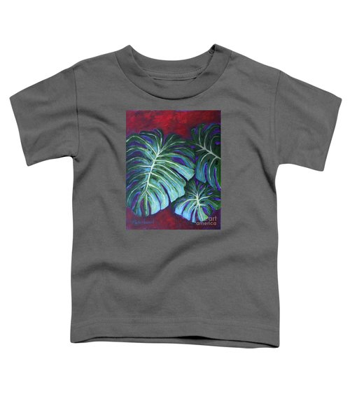 Split Leaf Philodendron Toddler T-Shirt