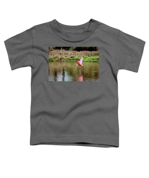 Spoonbill In Flight Toddler T-Shirt