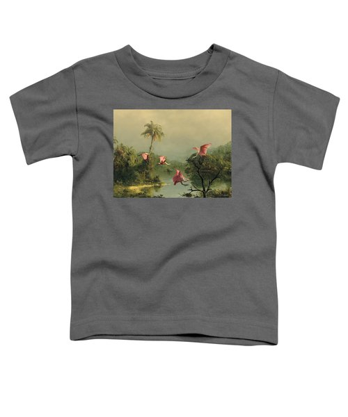 Spoonbills In The Mist Toddler T-Shirt by Spadecaller
