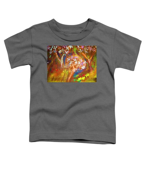 Toddler T-Shirt featuring the painting Spring Blossom by Winsome Gunning