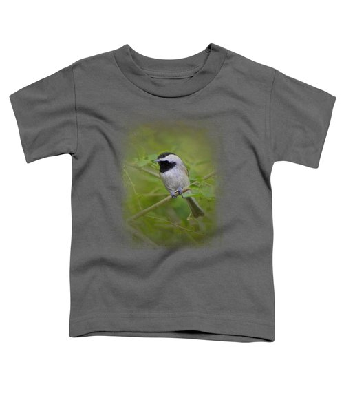 Spring Chickadee Toddler T-Shirt by Jai Johnson