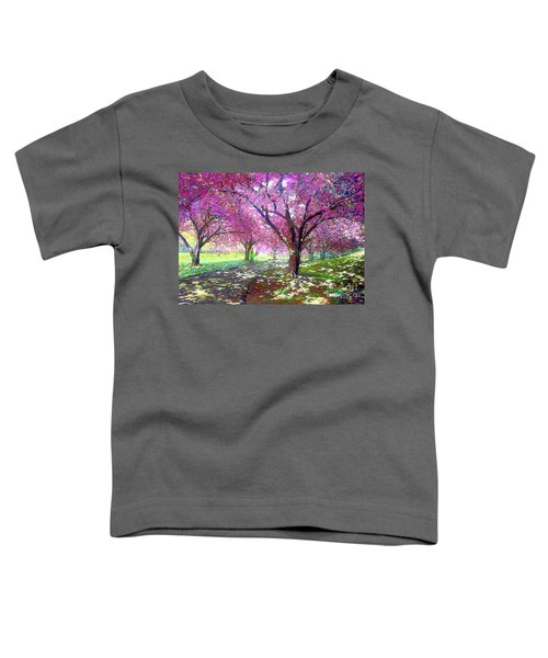 Spring Rhapsody, Happiness And Cherry Blossom Trees Toddler T-Shirt