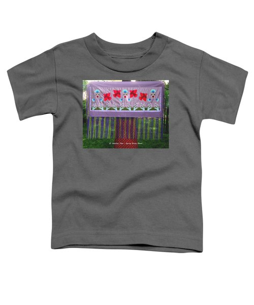 Toddler T-Shirt featuring the tapestry - textile Spring Rising by Chholing Taha