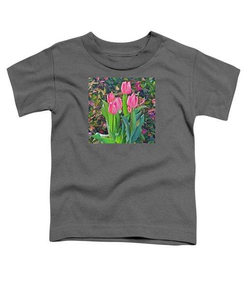 Spring Show 14 Pink Tulips  Toddler T-Shirt