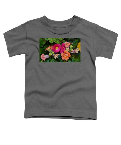 Spring Show 15 Snapdragons And English Daisy Toddler T-Shirt