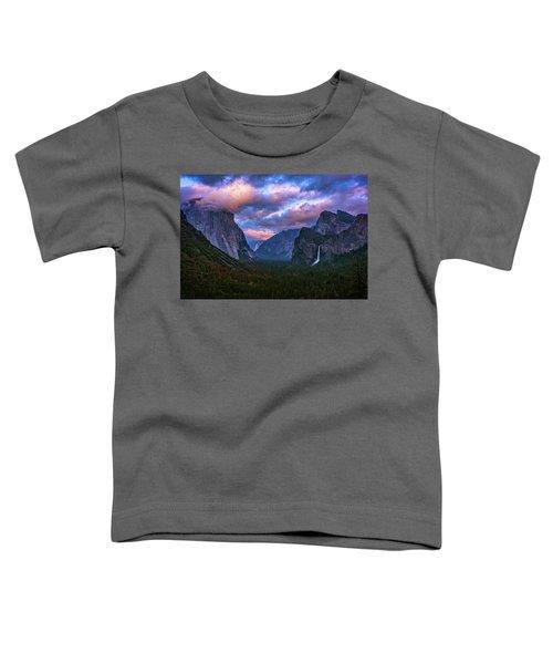 Spring Sunset At Yosemite's Tunnel View Toddler T-Shirt