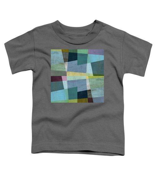 Toddler T-Shirt featuring the digital art Squares And Shims by Michelle Calkins