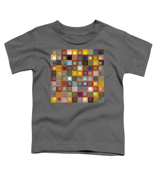 Toddler T-Shirt featuring the digital art Squares In Squares Four by Michelle Calkins