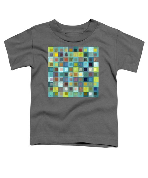 Toddler T-Shirt featuring the digital art Squares In Squares Two by Michelle Calkins