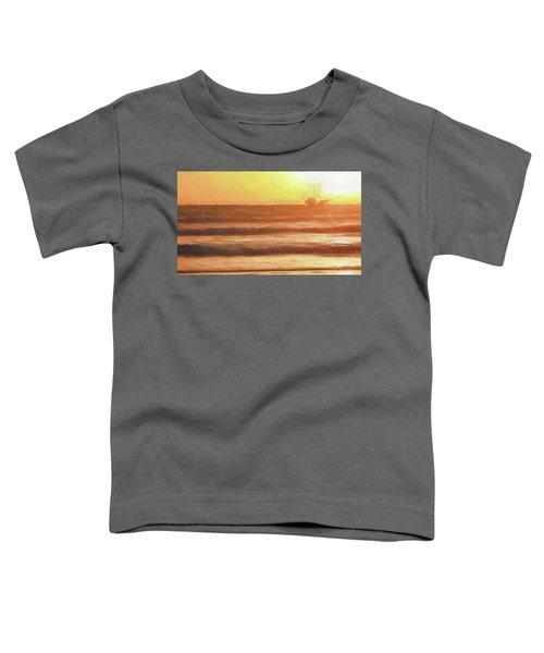 Squid Boat Sunset Toddler T-Shirt