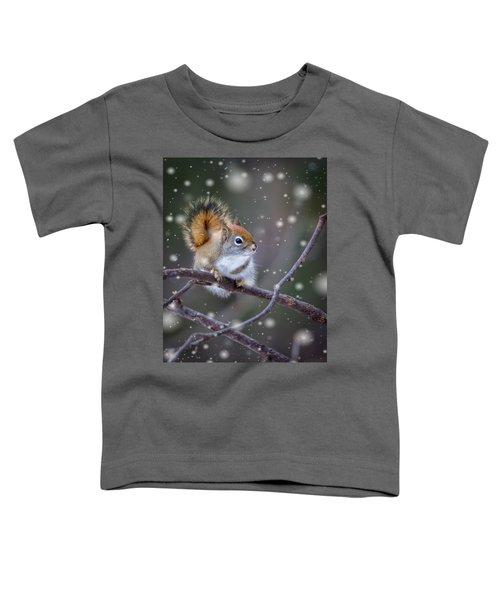 Squirrel Balancing Act Toddler T-Shirt