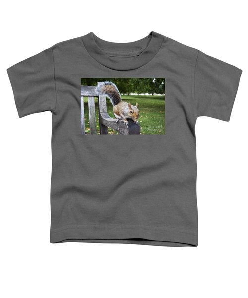 Squirrel Bench Toddler T-Shirt