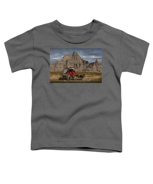 Stage Coach In The Badlands Toddler T-Shirt