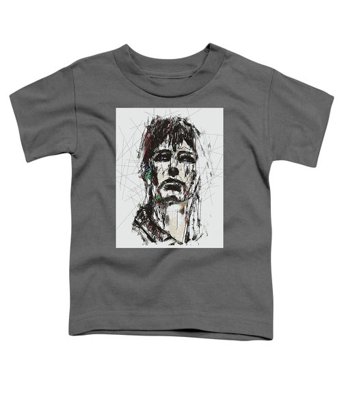 Staggered Abstract Portrait Toddler T-Shirt