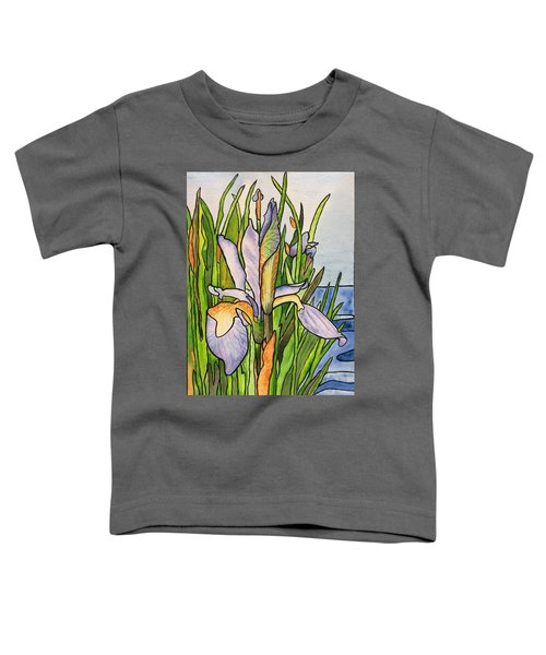 Stained Iris Toddler T-Shirt