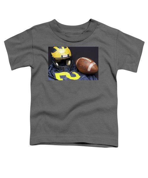 Stan Edwards's Autographed Wolverine Helmet Toddler T-Shirt