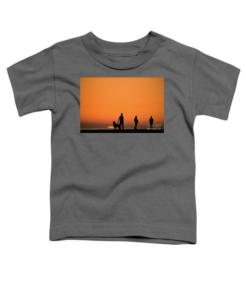 Standing At Sunset Toddler T-Shirt