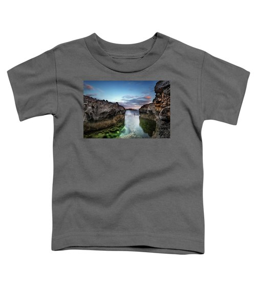 Standing At The Tip Of Sea Toddler T-Shirt