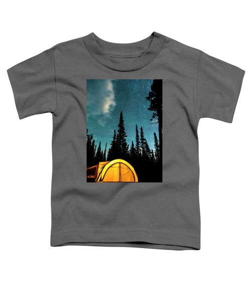 Toddler T-Shirt featuring the photograph Star Camping by James BO Insogna