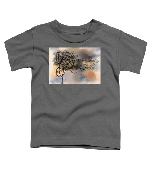 Starlings At Dusk Toddler T-Shirt