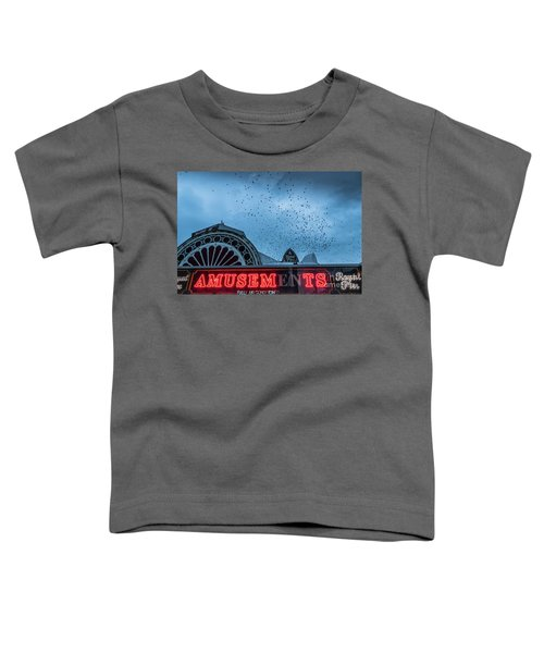 Starlings Over Aberystwyth Royal Pier Toddler T-Shirt