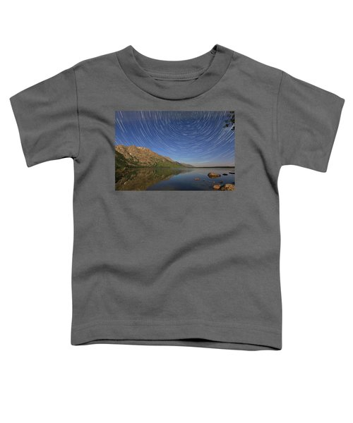Startrails Over Jenny Lake Toddler T-Shirt