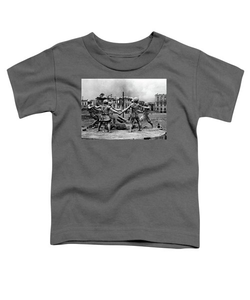 Statue Of Children After Nazi Airstrikes Center Of Stalingrad 1942 Toddler T-Shirt