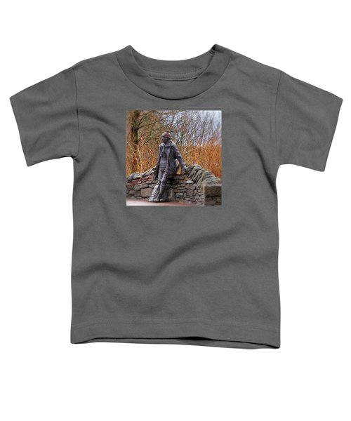 Toddler T-Shirt featuring the photograph Statue Of Tom Weir by Jeremy Lavender Photography