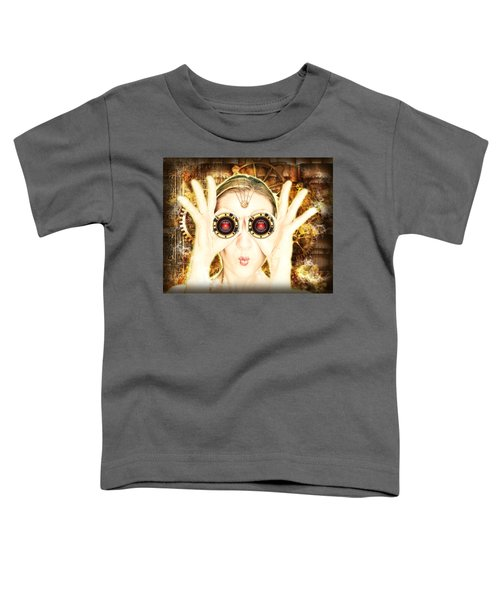 Steam Punk Lady With Bins Toddler T-Shirt