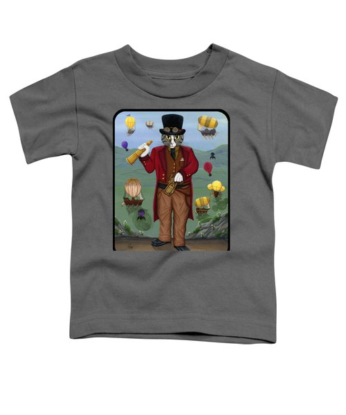 Steampunk Cat Guy - Victorian Cat Toddler T-Shirt
