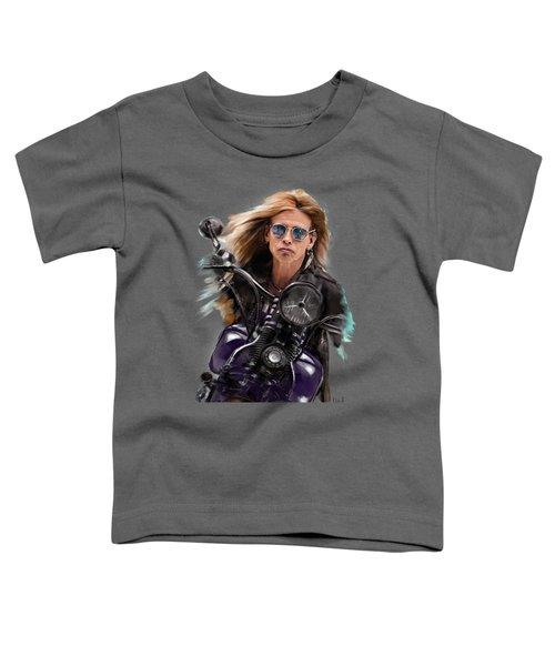 Steven Tyler On A Bike Toddler T-Shirt