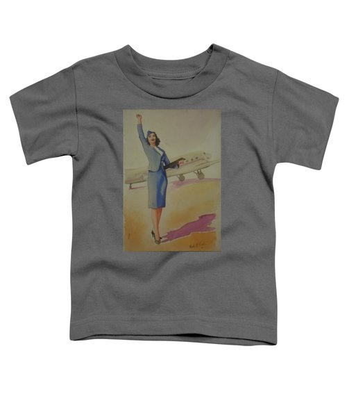 Stewardess And Dc3 Toddler T-Shirt